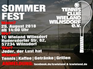 Sommerfest @ Anlage TC Wieland